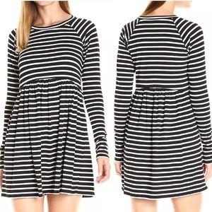 BCBGeneration Black White Striped Dress Small